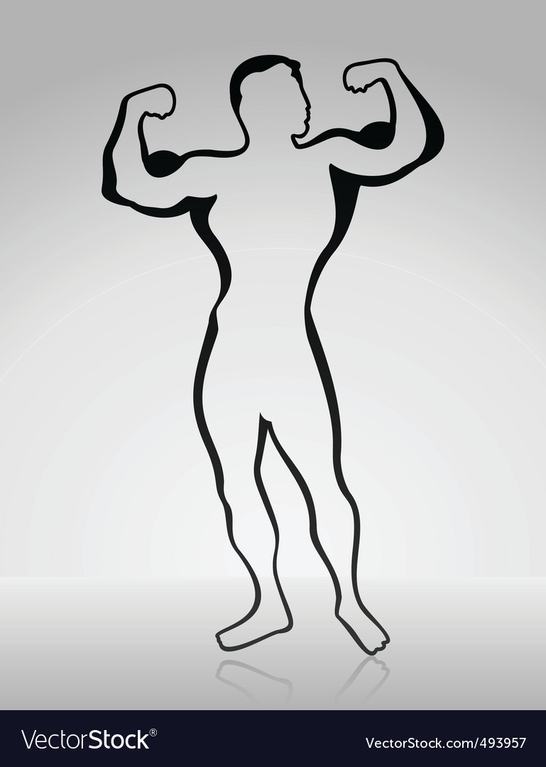 Body builder2 vector | Price: 1 Credit (USD $1)