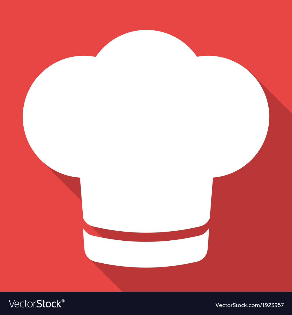 Chef cap icon cooking hat vector | Price: 1 Credit (USD $1)