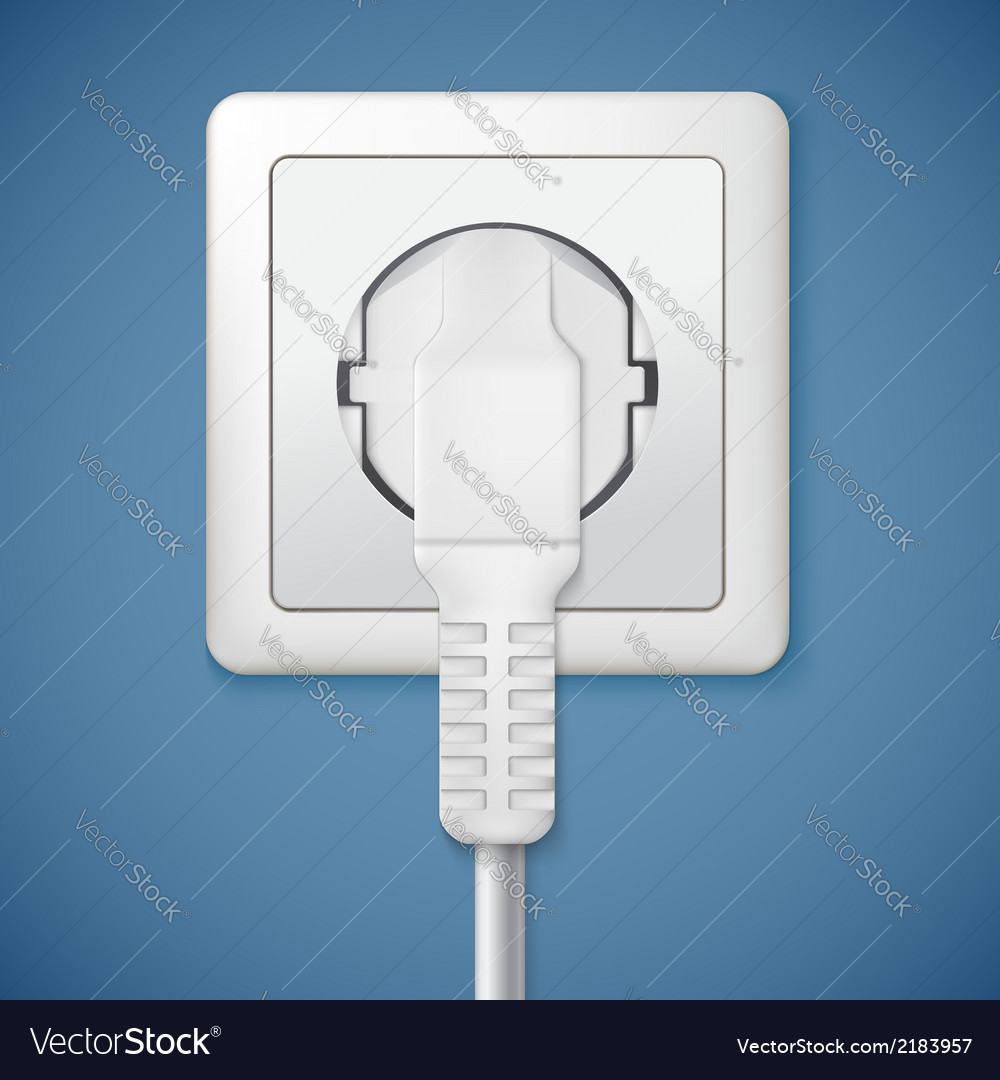Electrical outlet with plug vector | Price: 1 Credit (USD $1)