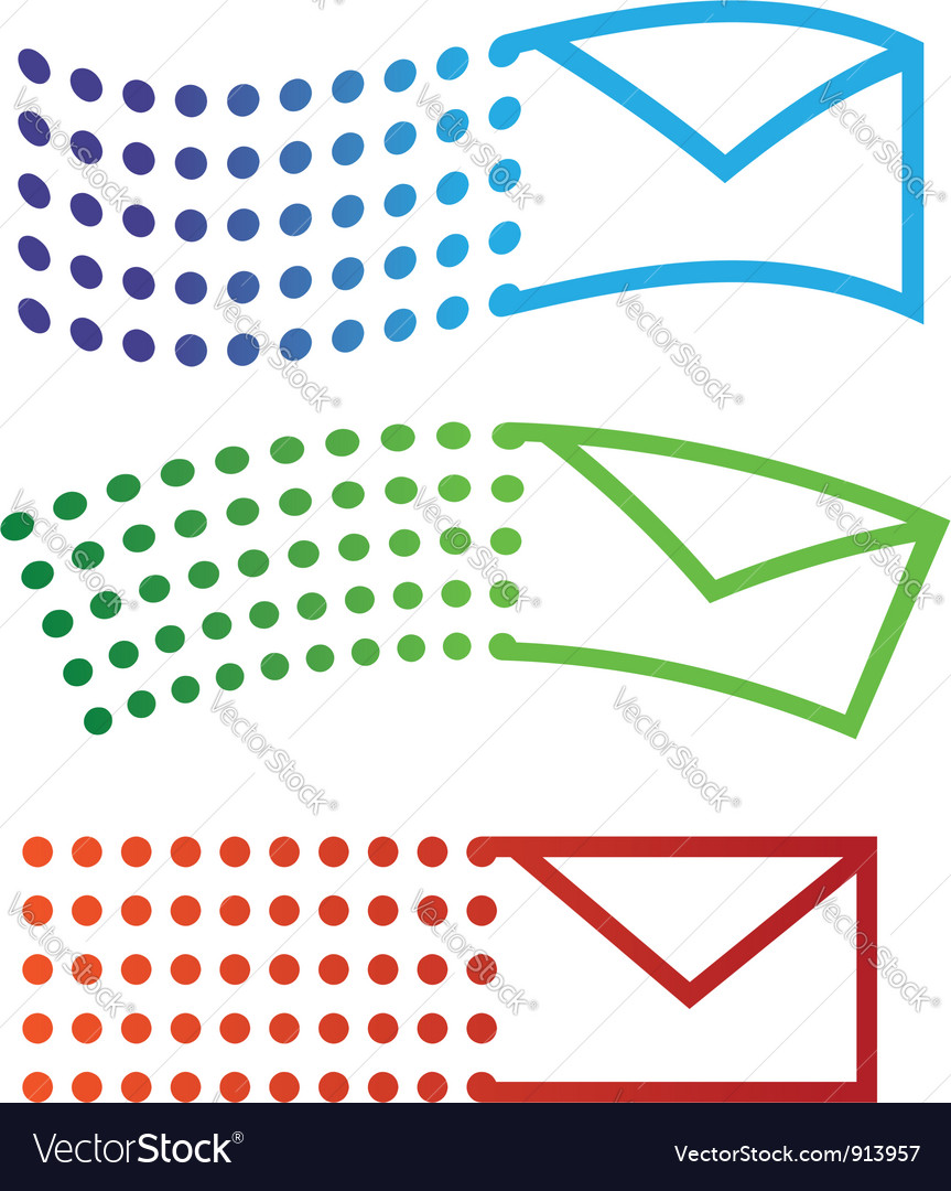 Email flying icons vector | Price: 1 Credit (USD $1)