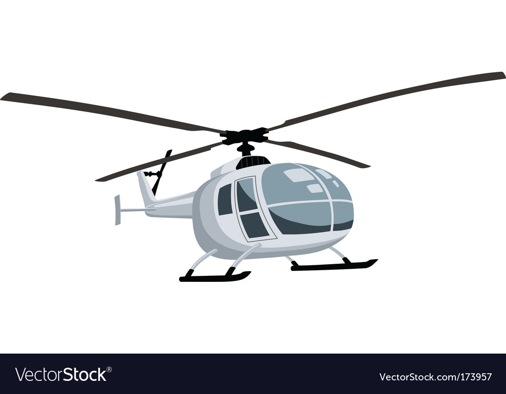 Flying helicopter vector | Price: 1 Credit (USD $1)