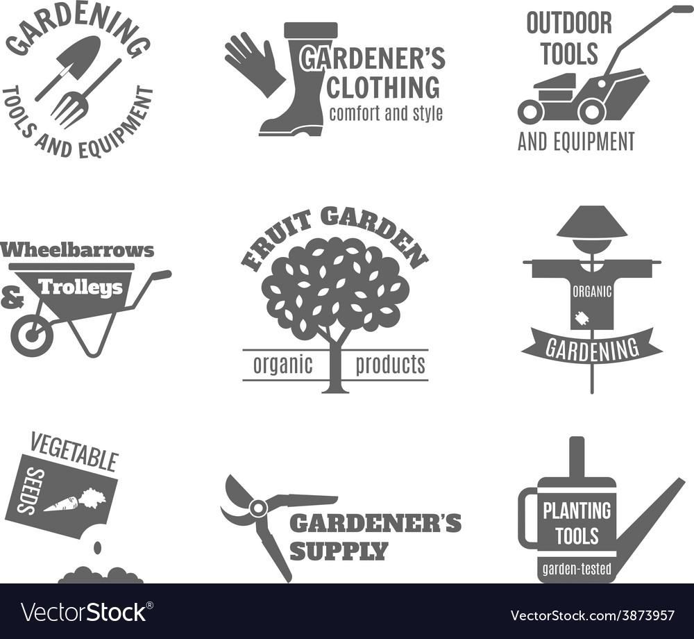 Garden label set vector   Price: 1 Credit (USD $1)