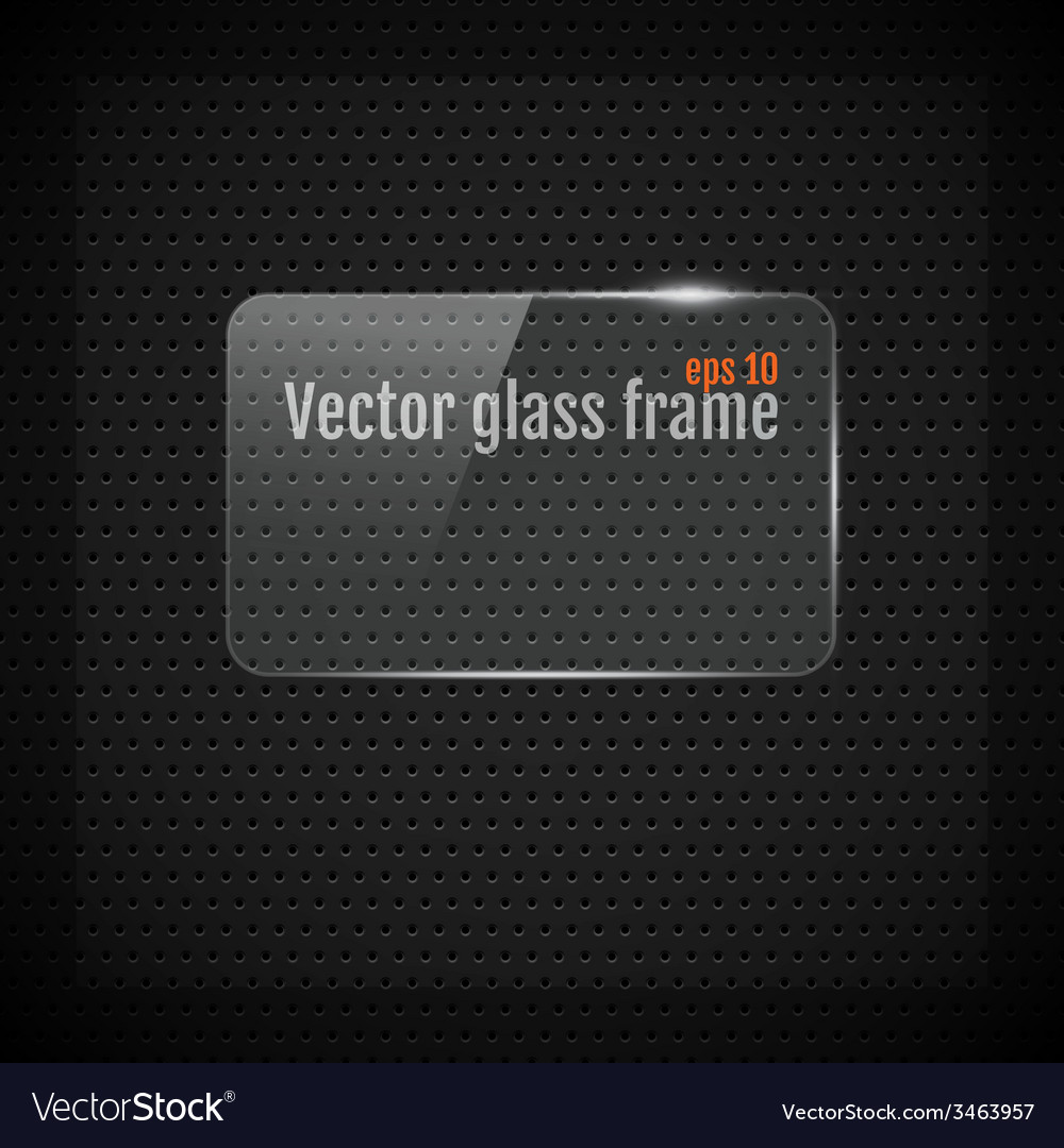 Glass frame background on carbon fiber texture vector | Price: 1 Credit (USD $1)