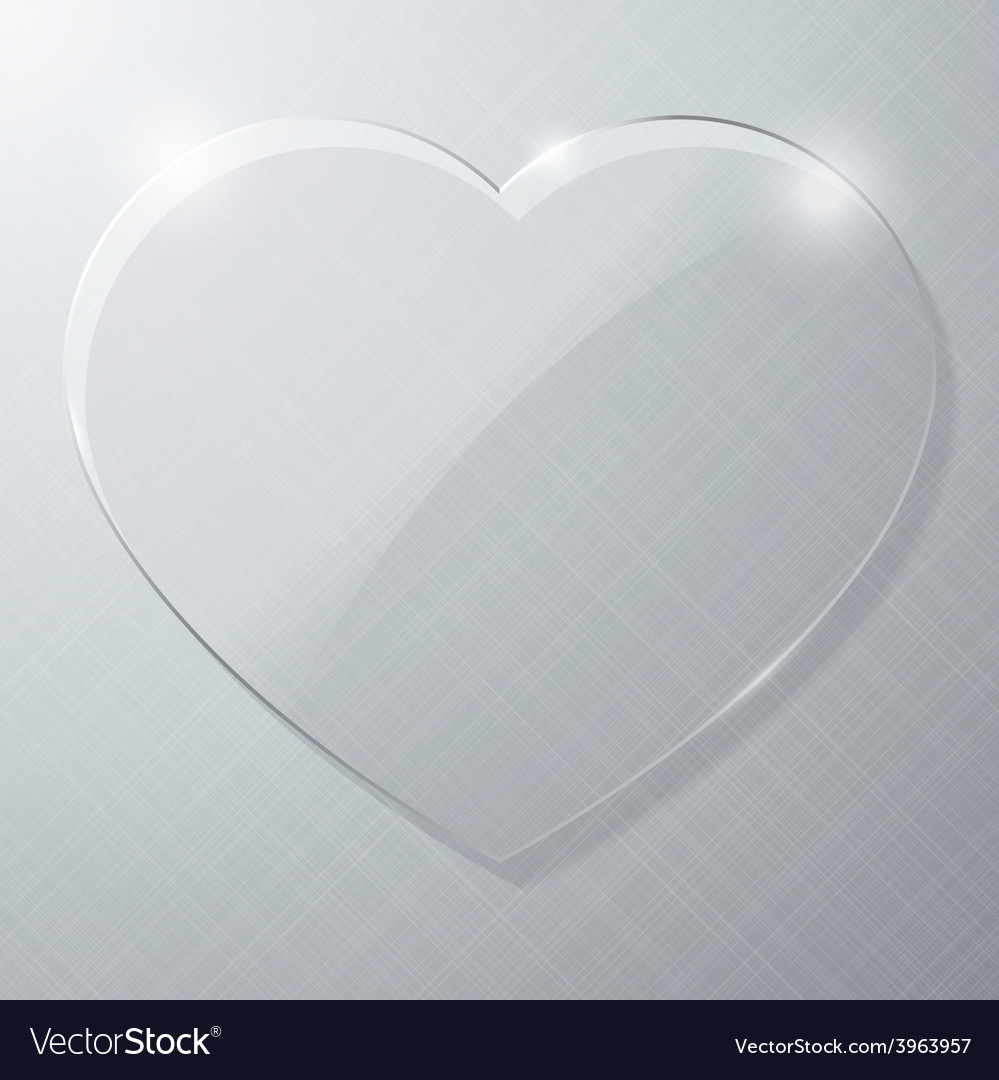 Glass heart vector | Price: 1 Credit (USD $1)