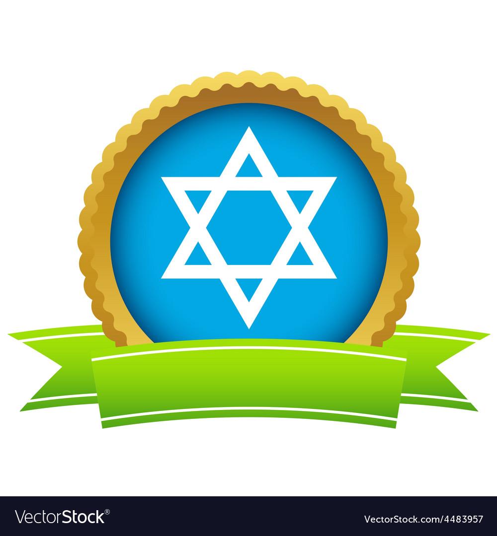 Gold judaism logo vector | Price: 1 Credit (USD $1)