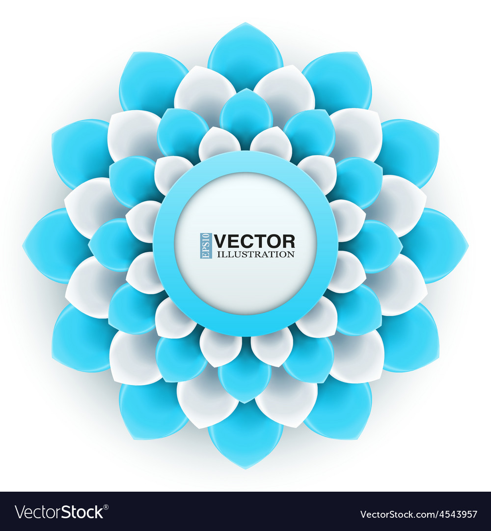 Greeting card or background with light blue flower vector | Price: 1 Credit (USD $1)