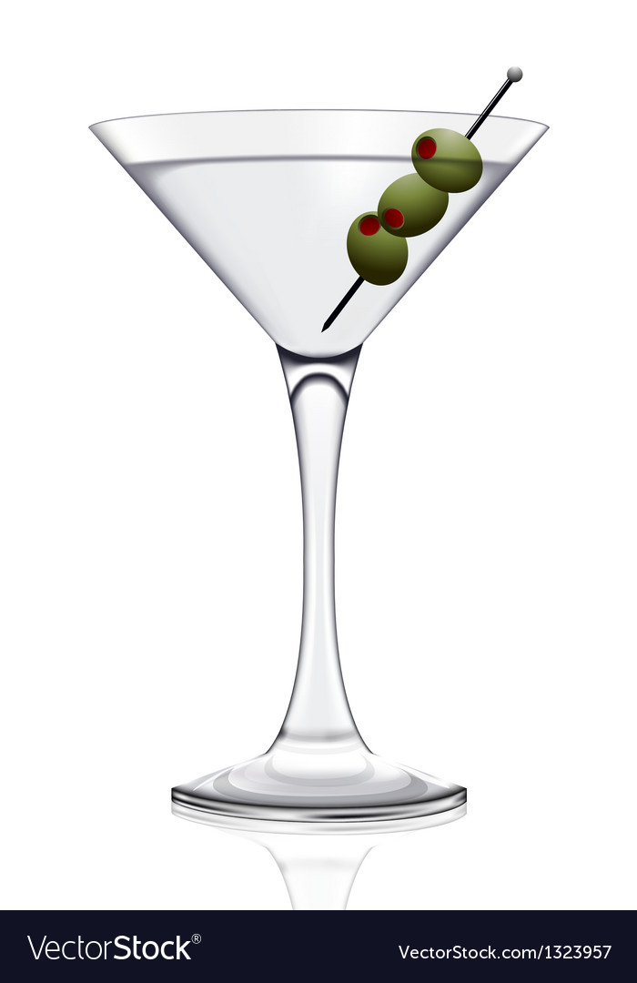 Martini glass vector | Price: 3 Credit (USD $3)