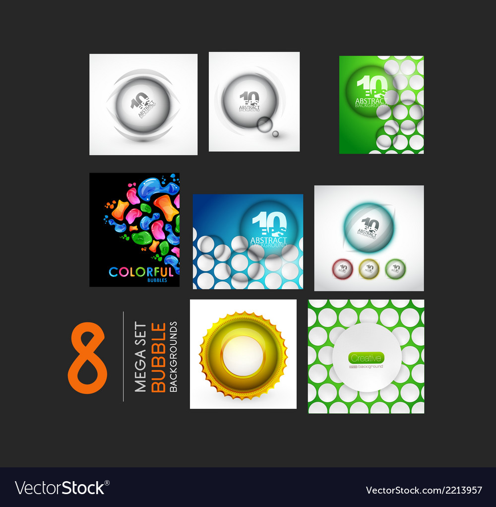 Set of sphere and bubble designs vector | Price: 1 Credit (USD $1)