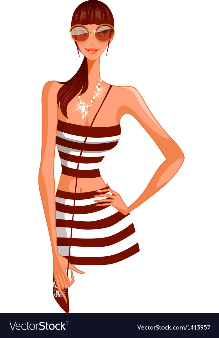 Stylish woman vector | Price: 3 Credit (USD $3)