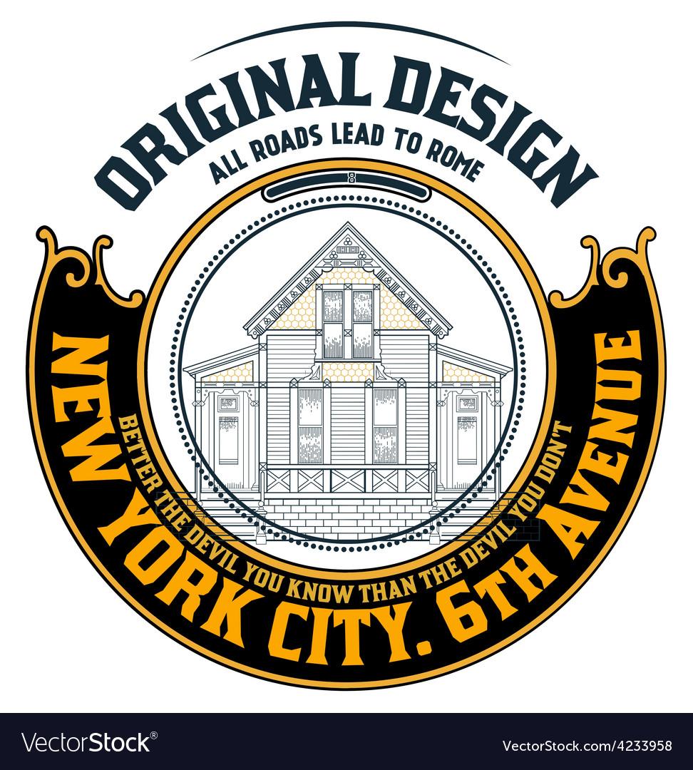 000 house logo vector | Price: 1 Credit (USD $1)