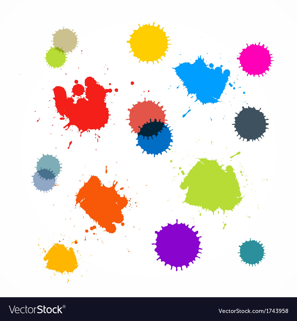 Abstract colorful blots stains splashes vector | Price: 1 Credit (USD $1)