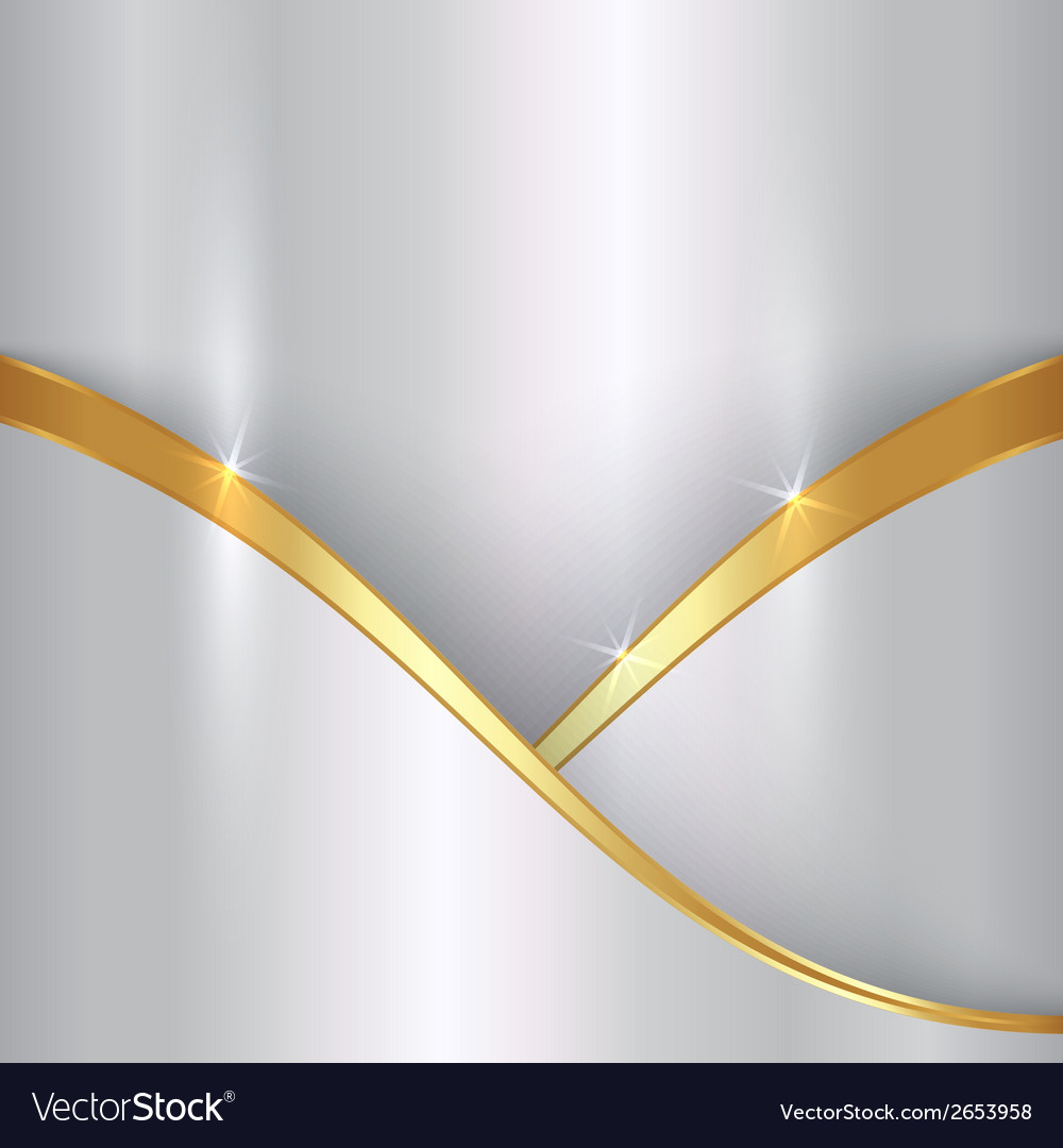 Abstract precious metallic background with curvess vector | Price: 1 Credit (USD $1)