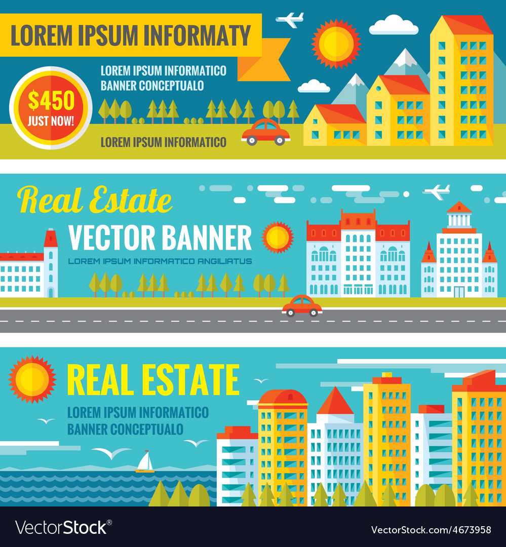 Architecture - real estate - creative banne vector | Price: 1 Credit (USD $1)