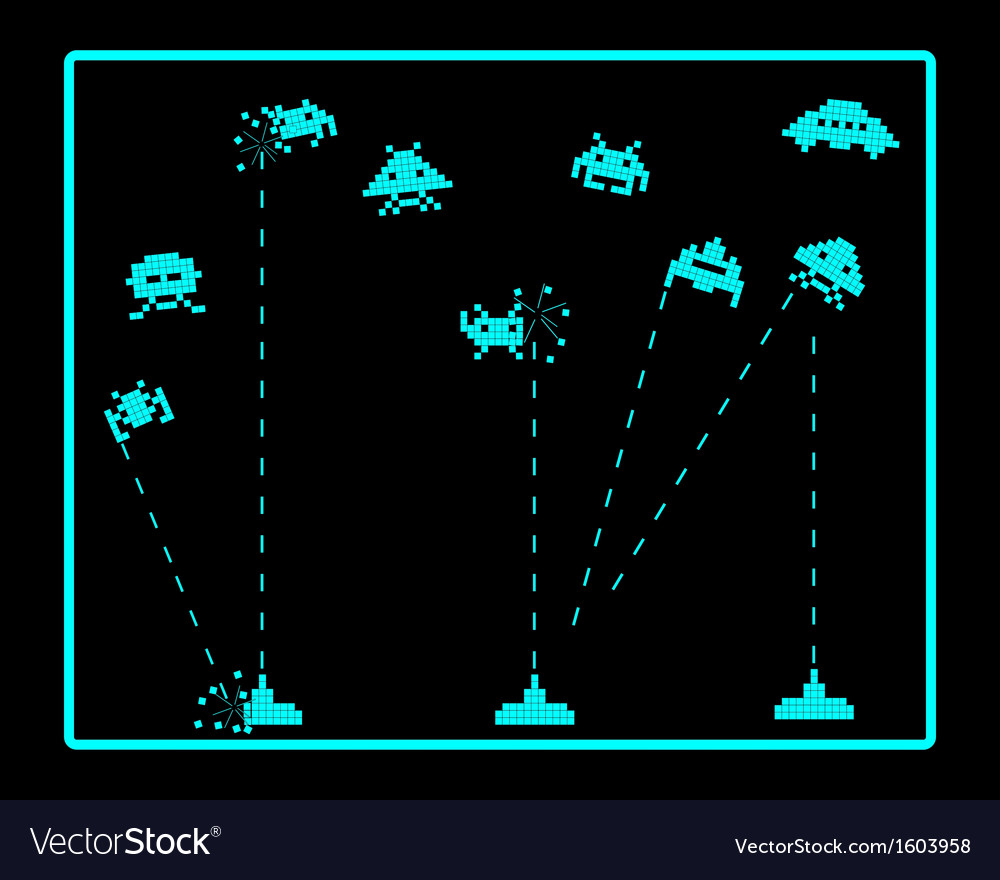 Attack of space invaders vector | Price: 1 Credit (USD $1)