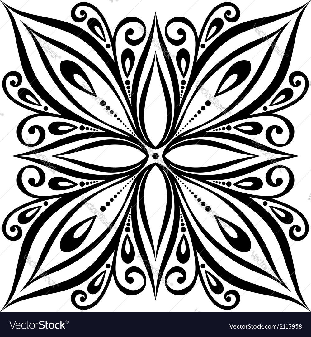 Beautiful deco square vector | Price: 1 Credit (USD $1)