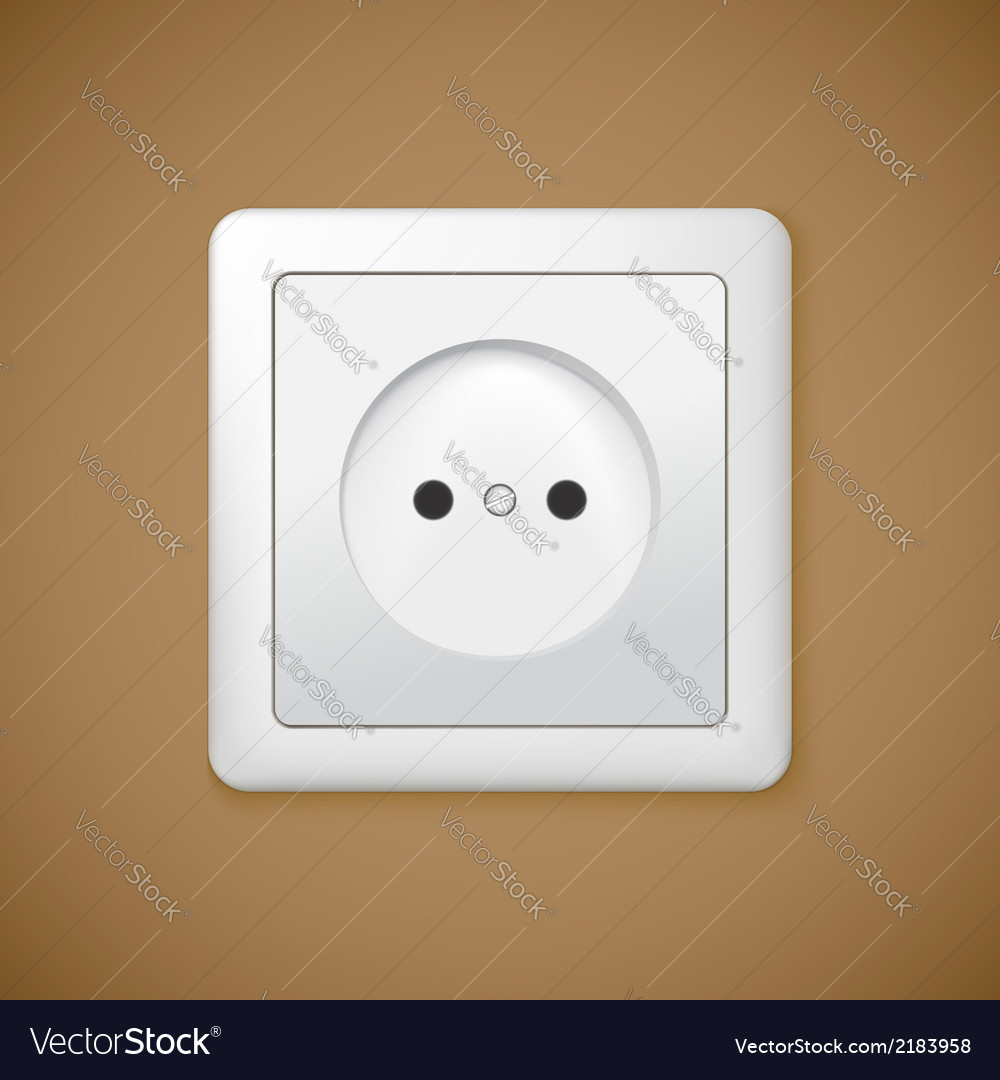 Closeup of electrical outlet vector | Price: 1 Credit (USD $1)