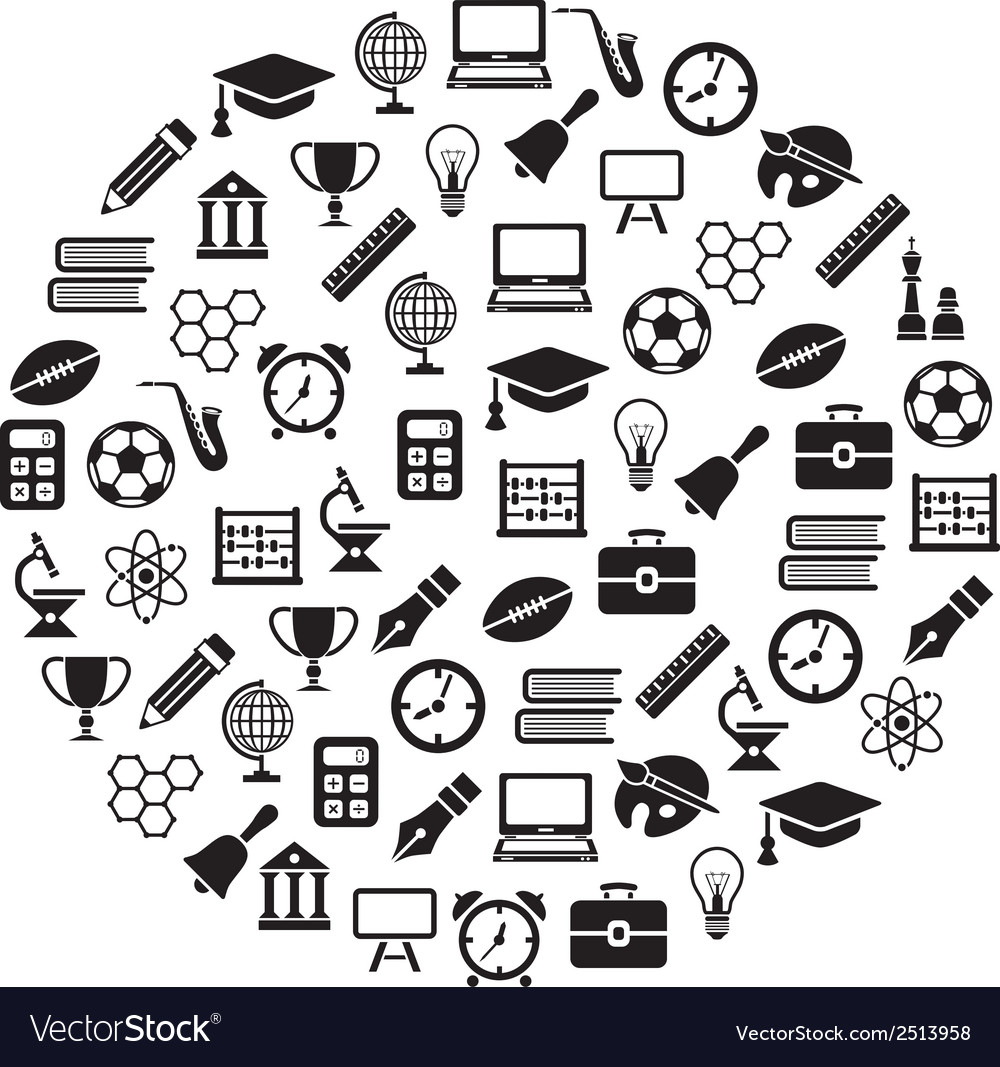 Education icons in circle vector | Price: 1 Credit (USD $1)