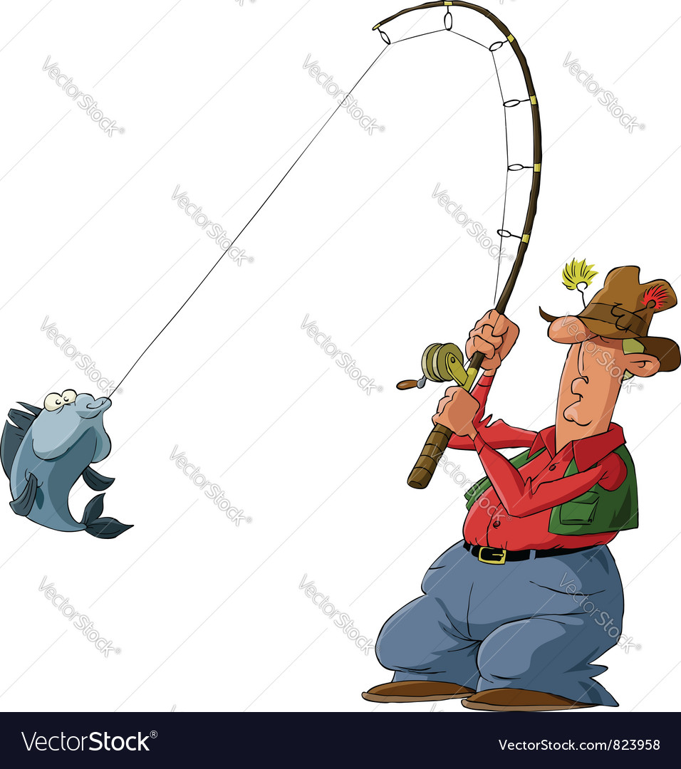 Fisherman vector | Price: 3 Credit (USD $3)
