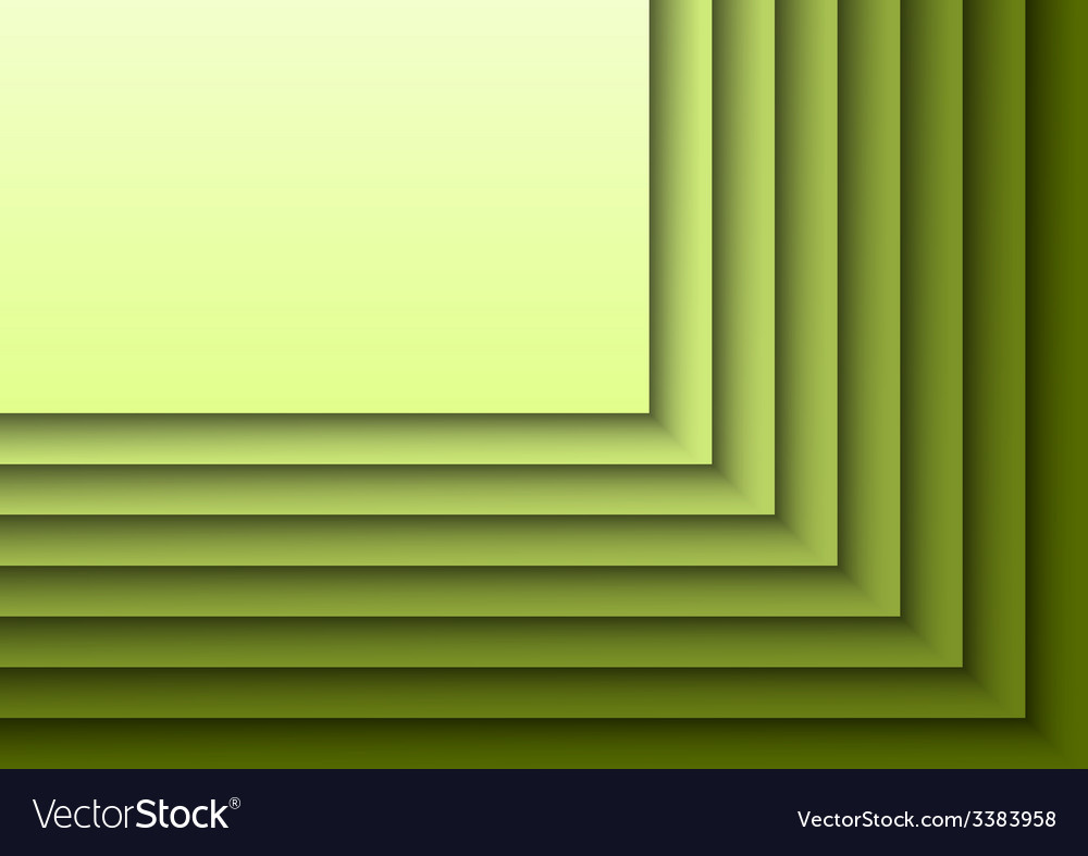 Green layeres vector | Price: 1 Credit (USD $1)