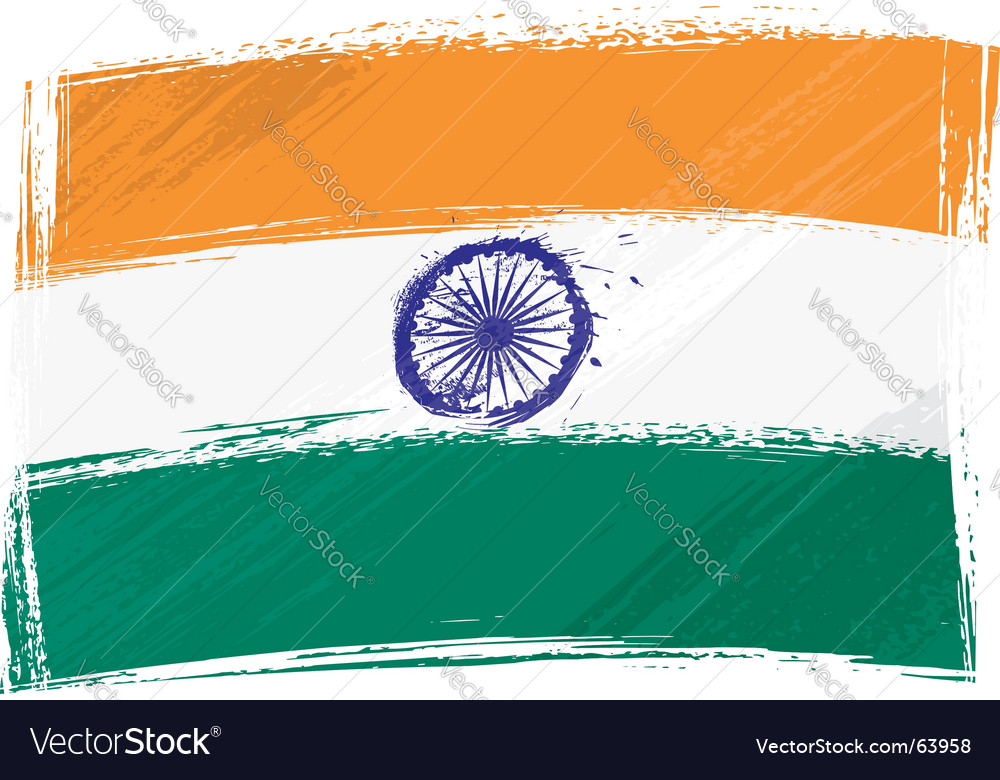 Grunge india flag vector | Price: 1 Credit (USD $1)