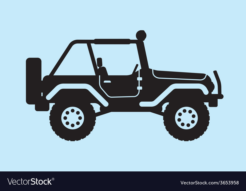 Jeep silhouette vector | Price: 1 Credit (USD $1)