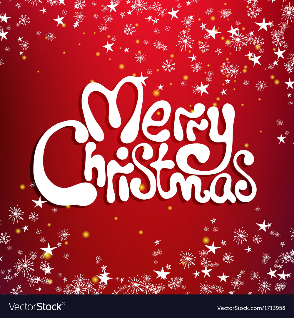 Merry christmas congratulation card vector | Price: 1 Credit (USD $1)