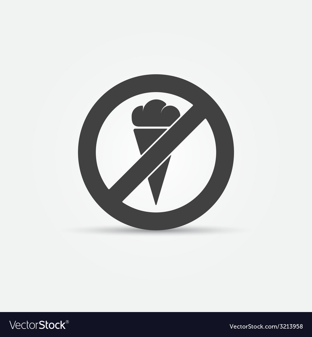 No ice cream sign vector | Price: 1 Credit (USD $1)