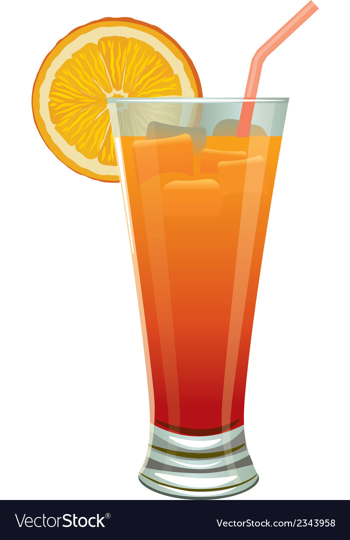 Orange cocktail vector | Price: 1 Credit (USD $1)