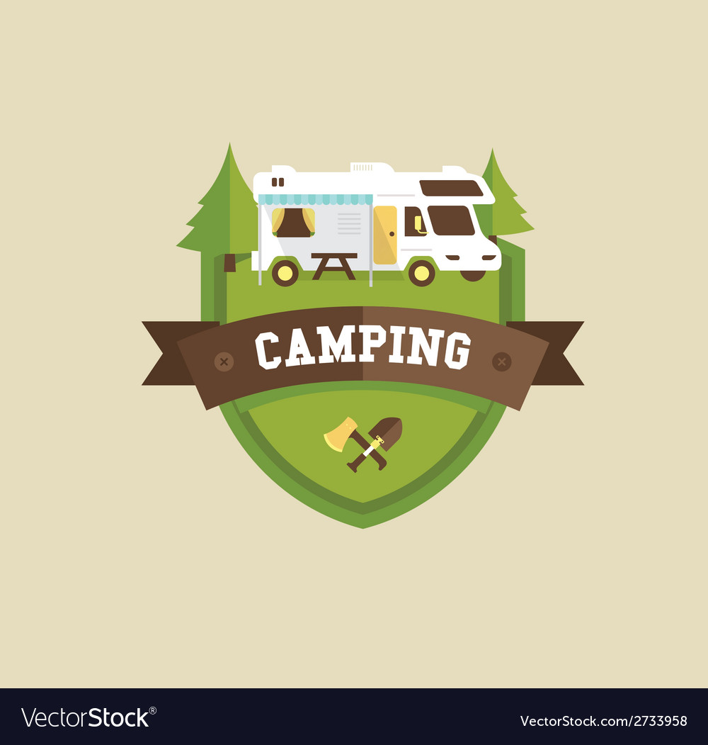 Rv camping vector | Price: 1 Credit (USD $1)