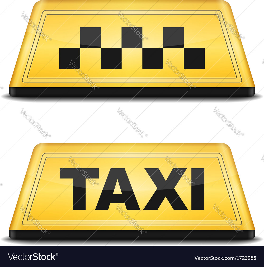 Taxi sign vector | Price: 1 Credit (USD $1)