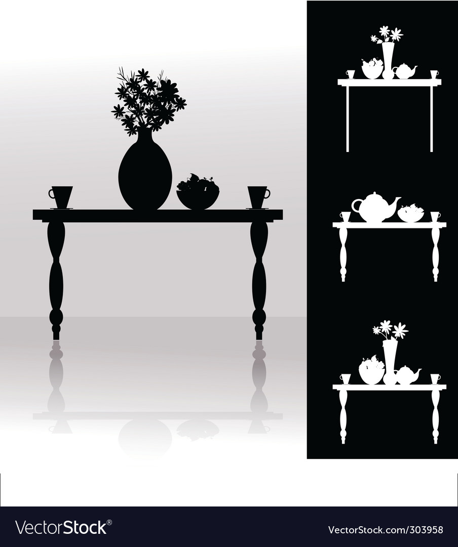 Tea table vector | Price: 1 Credit (USD $1)