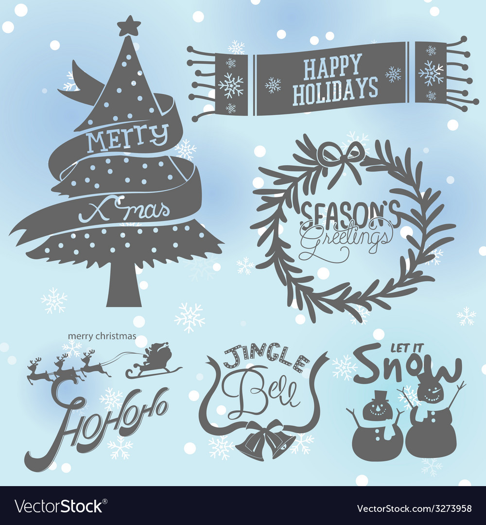 Xmas set vector | Price: 1 Credit (USD $1)
