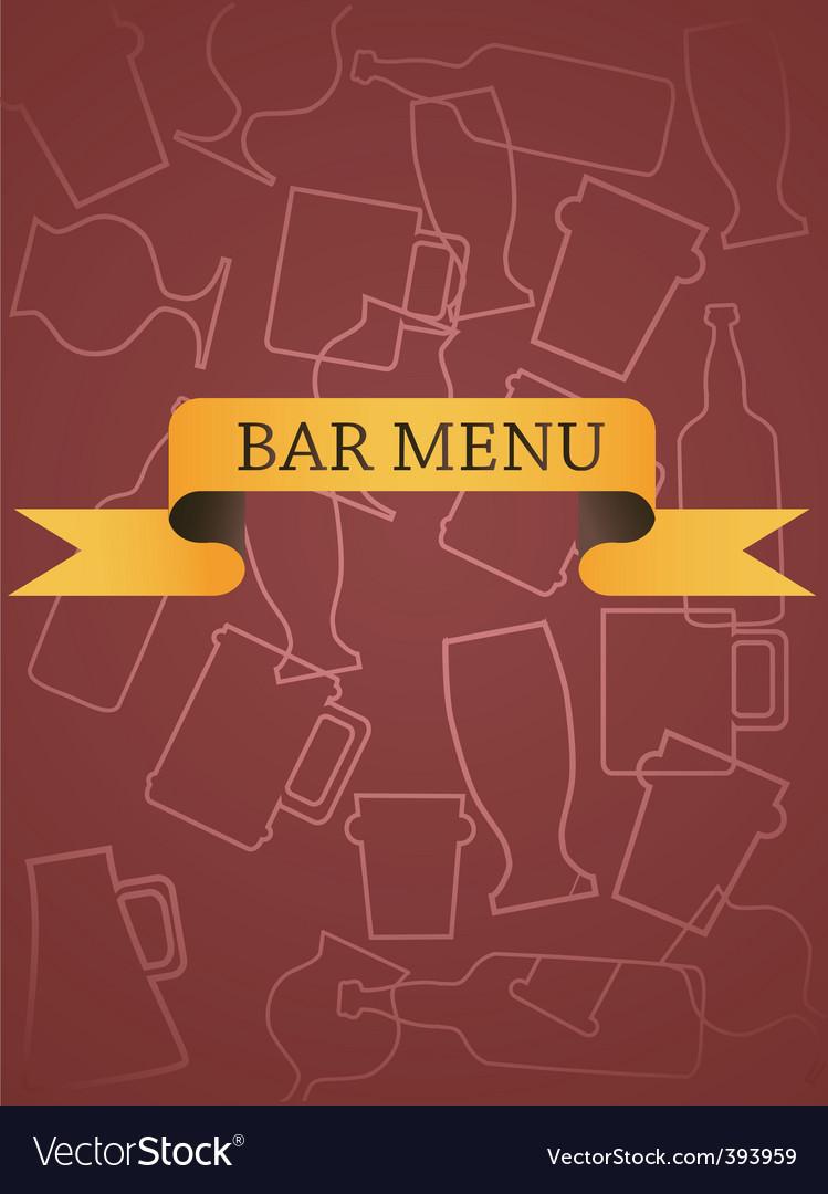 Bar menu vector | Price: 1 Credit (USD $1)