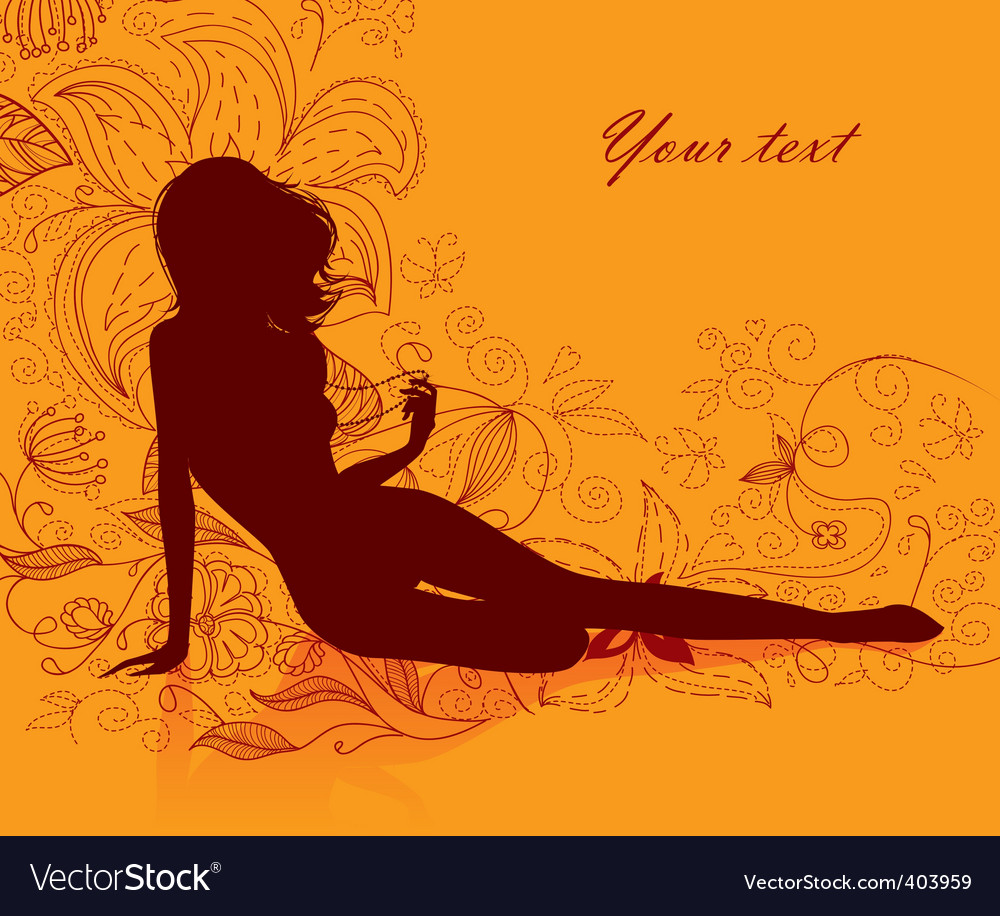 Girl floral vector | Price: 1 Credit (USD $1)