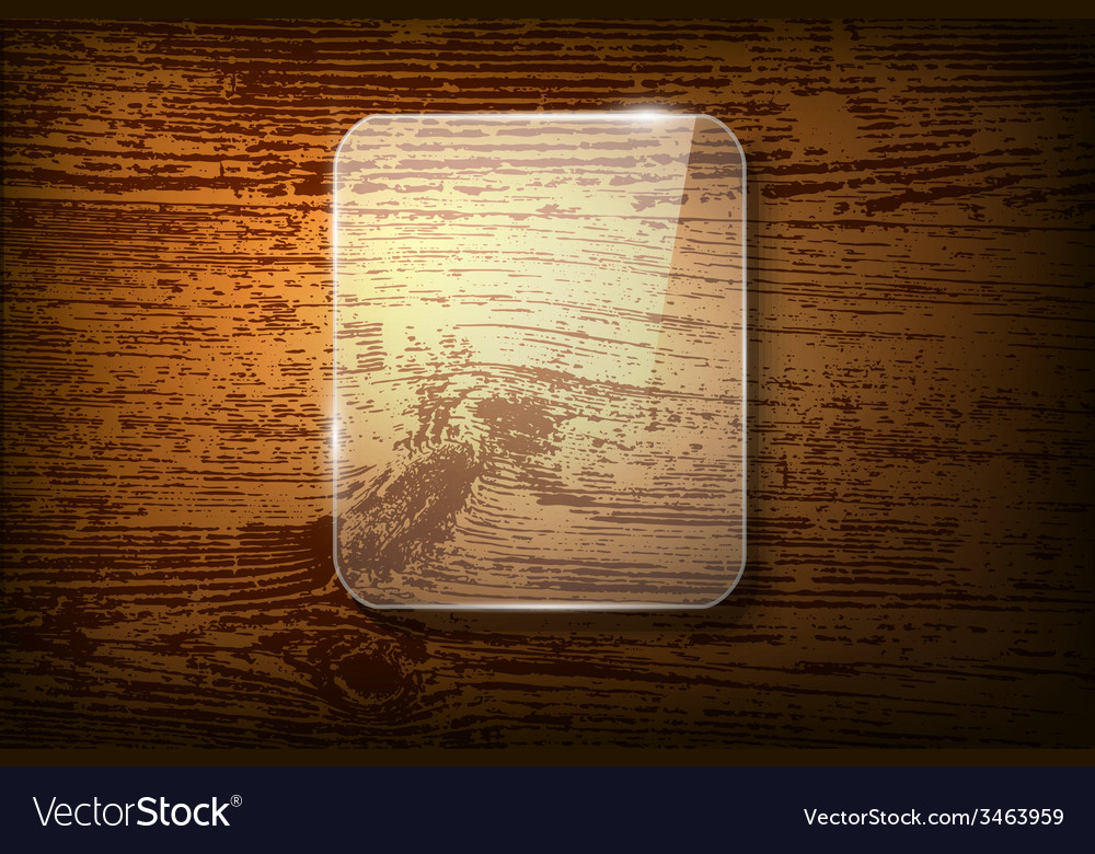 Glass frame on vintage wooden background vector | Price: 1 Credit (USD $1)