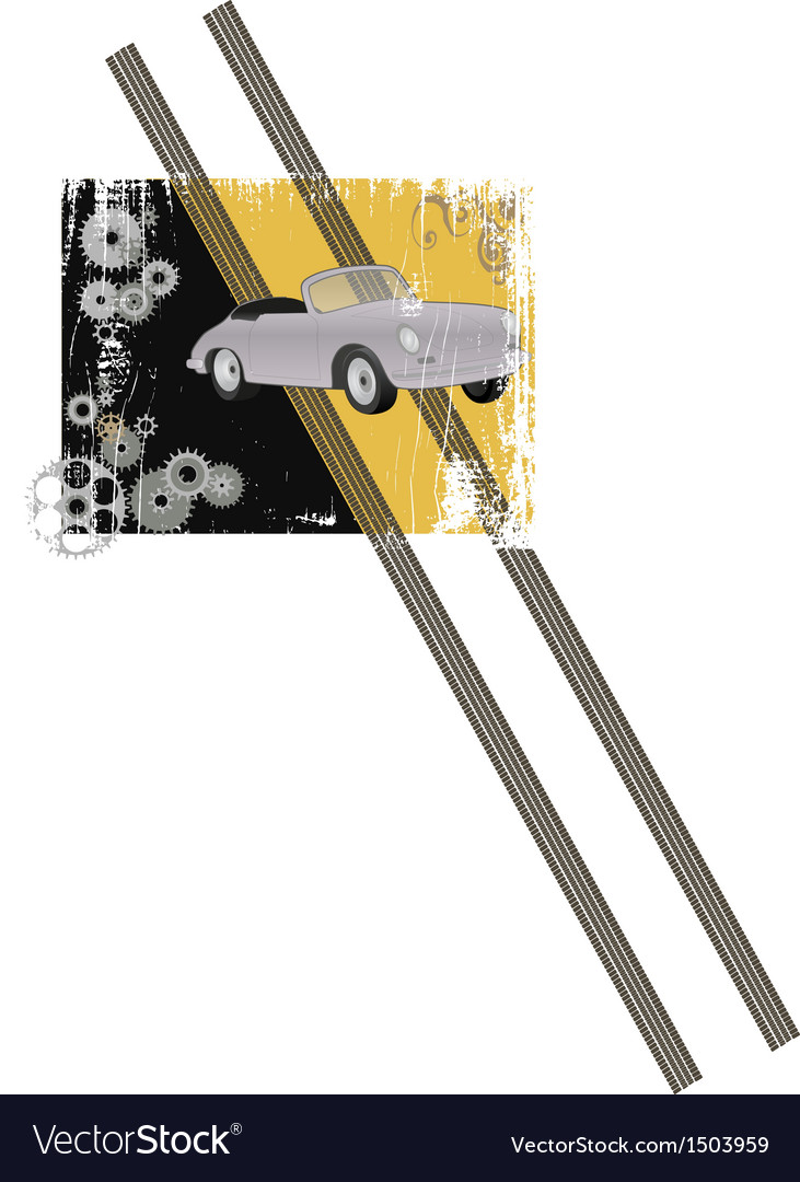 Grunge design with retro sports car vector | Price: 1 Credit (USD $1)