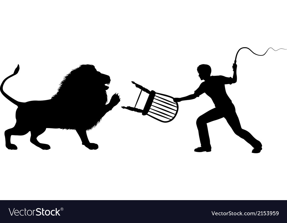 Lion tamer vector | Price: 1 Credit (USD $1)