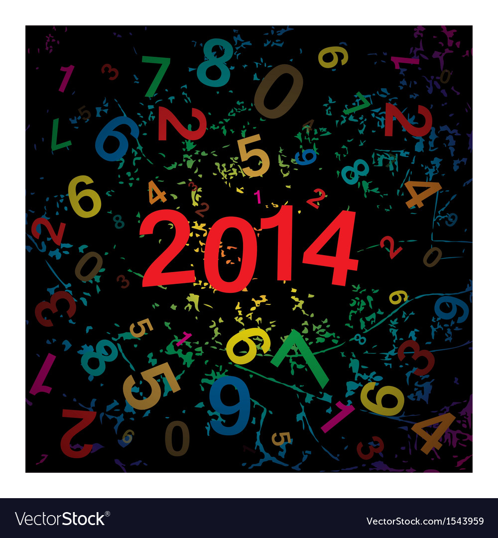 New 2014 year with digits background vector | Price: 1 Credit (USD $1)