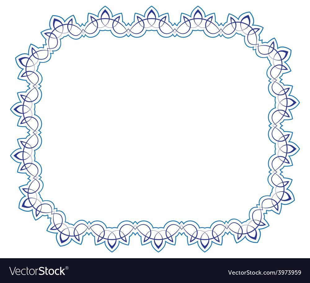 Openwork blue frame vignette for design vector | Price: 1 Credit (USD $1)