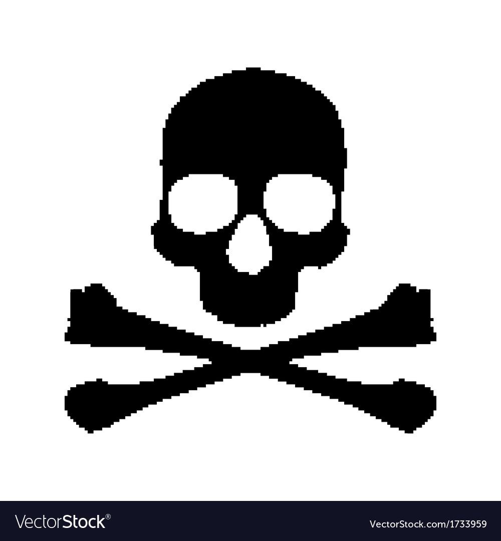 Pixel skull and bones vector   Price: 1 Credit (USD $1)