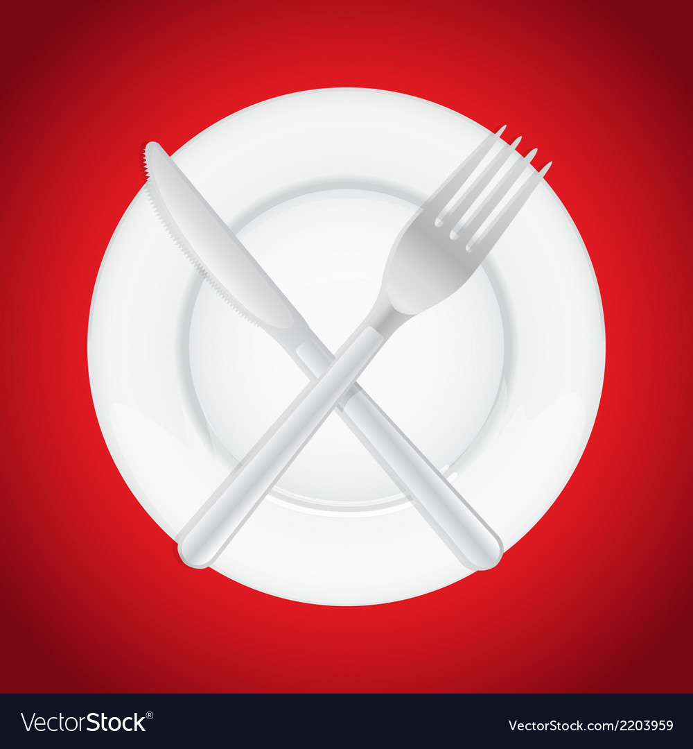 Plateandcutlery vector | Price: 1 Credit (USD $1)