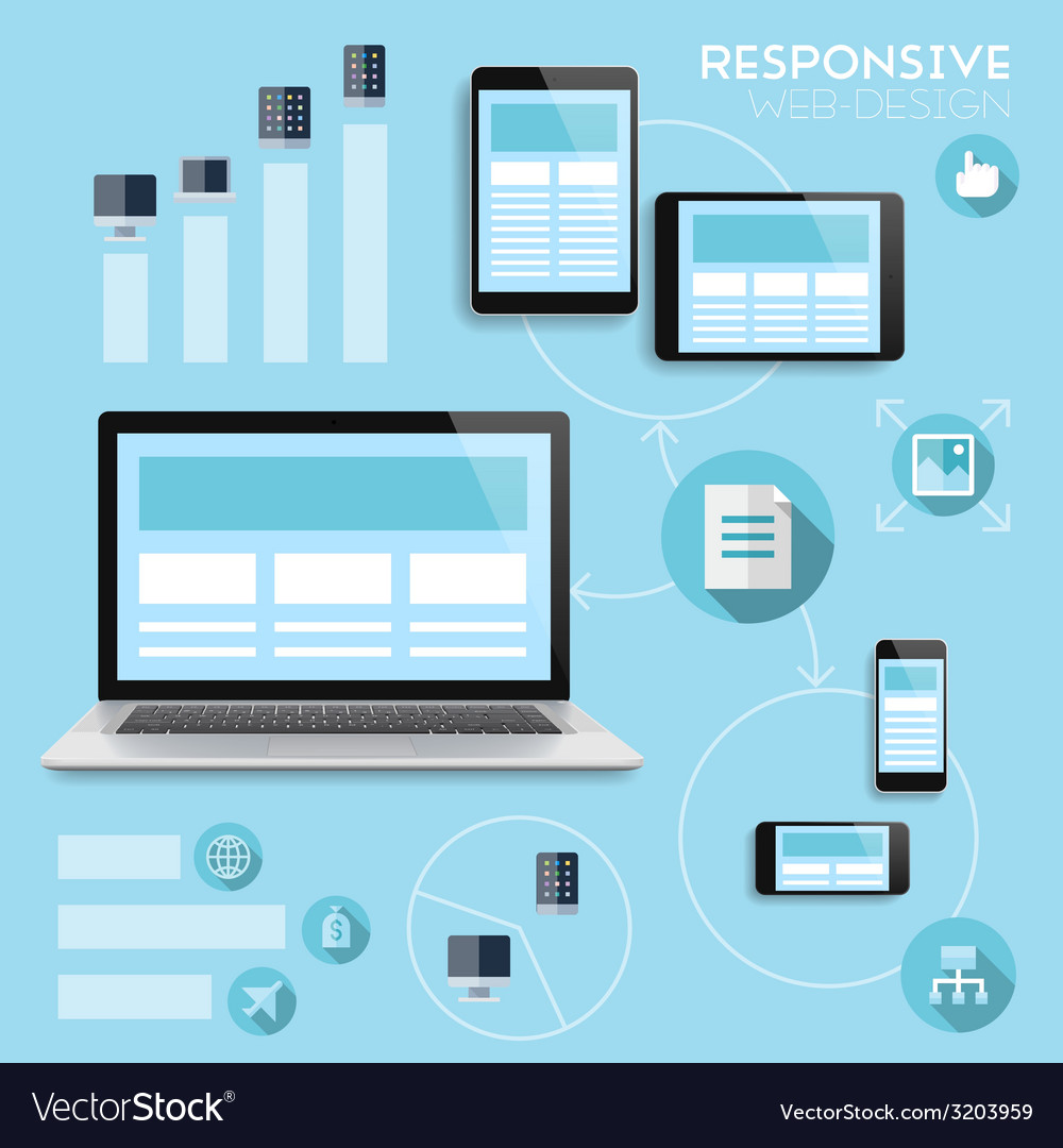 Responsive web-design infographics concept vector | Price: 1 Credit (USD $1)
