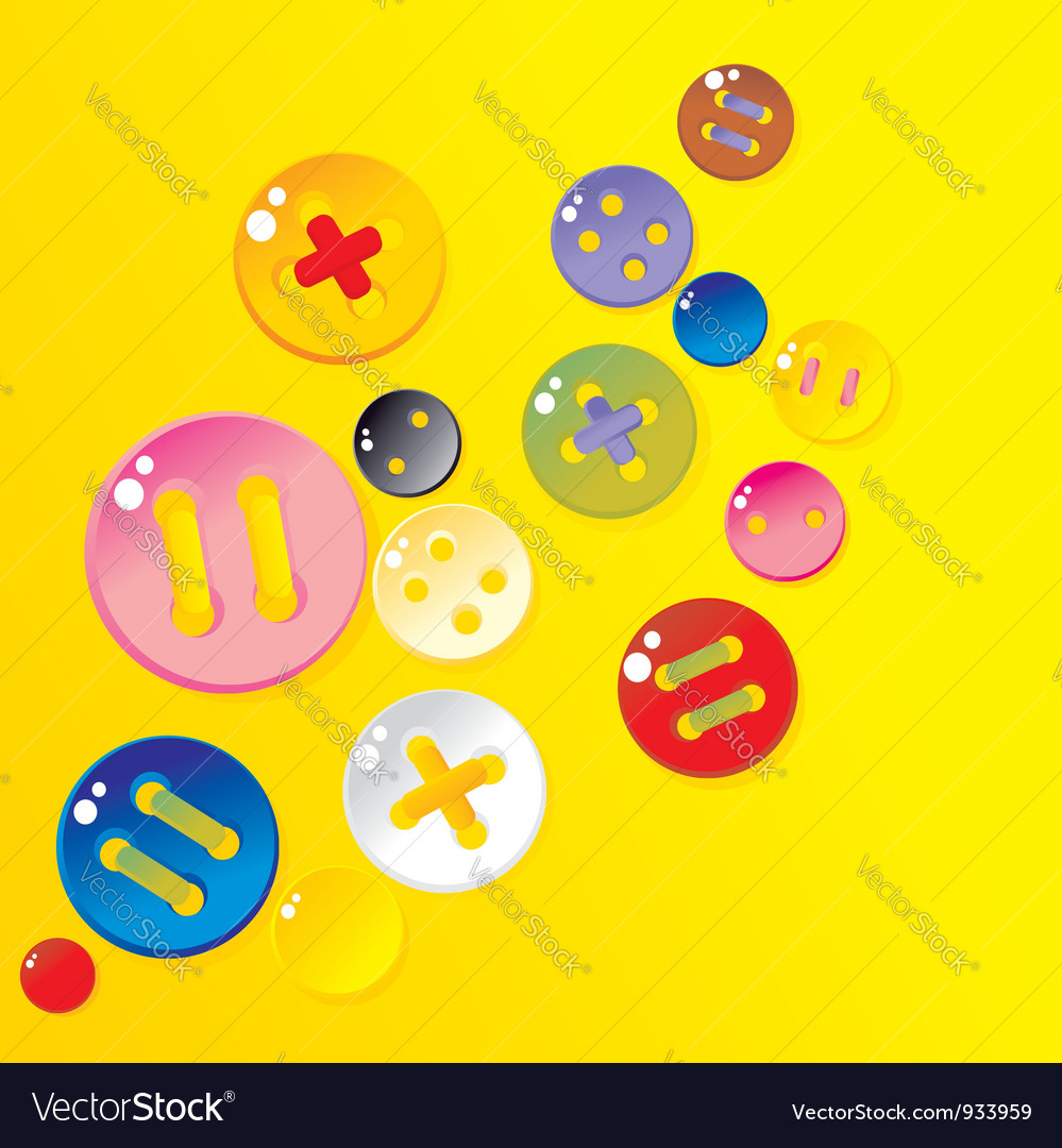 Sprinkle color buttons vector | Price: 1 Credit (USD $1)
