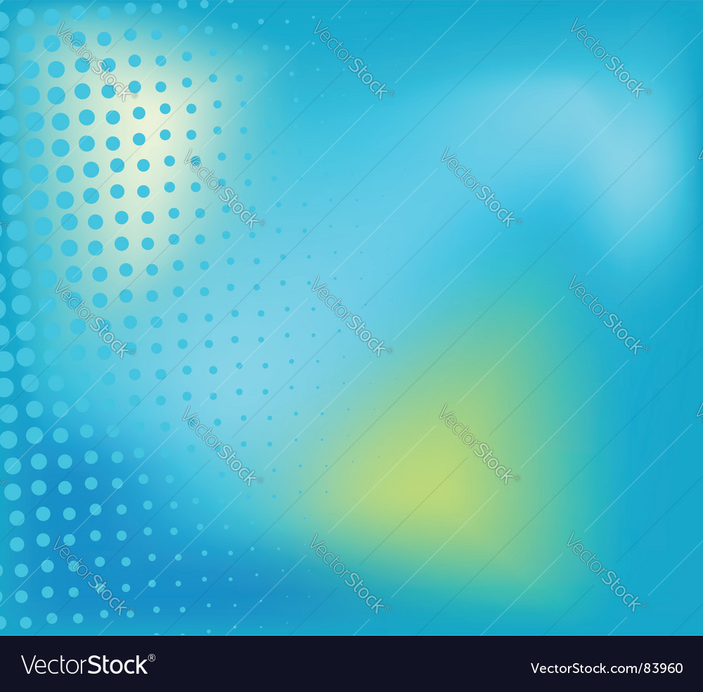 Blue background with halftone elements vector | Price: 1 Credit (USD $1)
