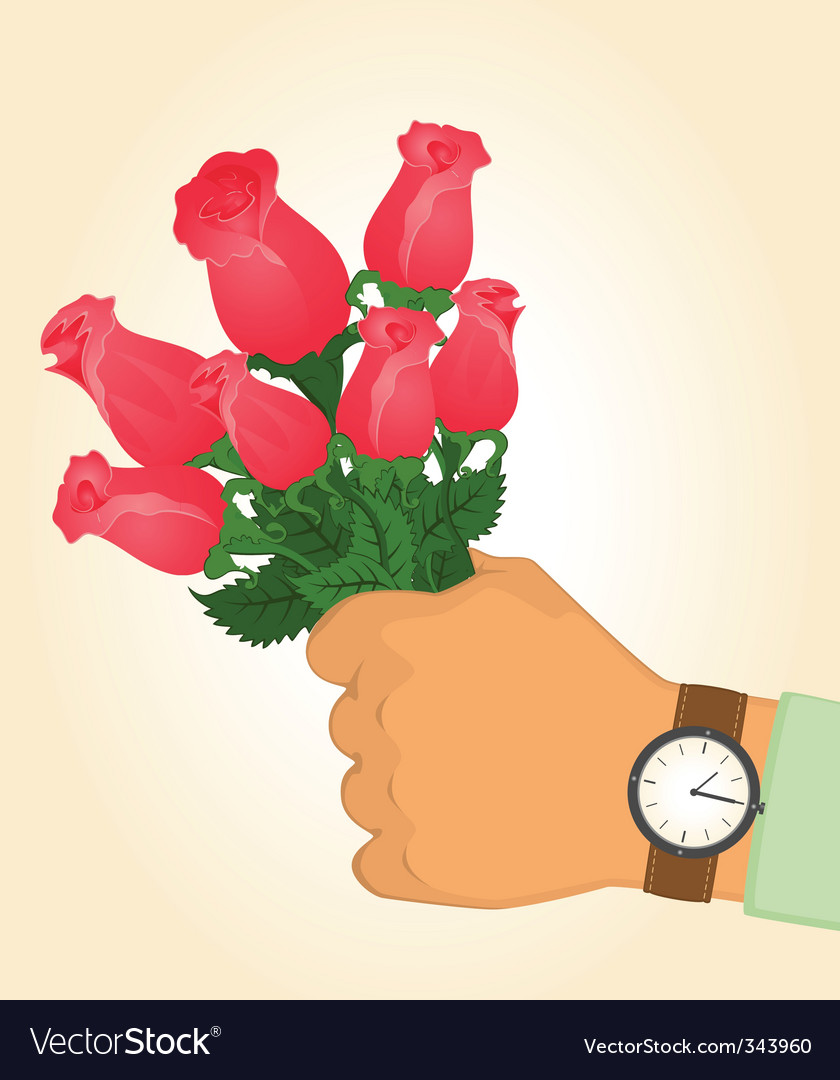 Bouquet of roses vector | Price: 1 Credit (USD $1)