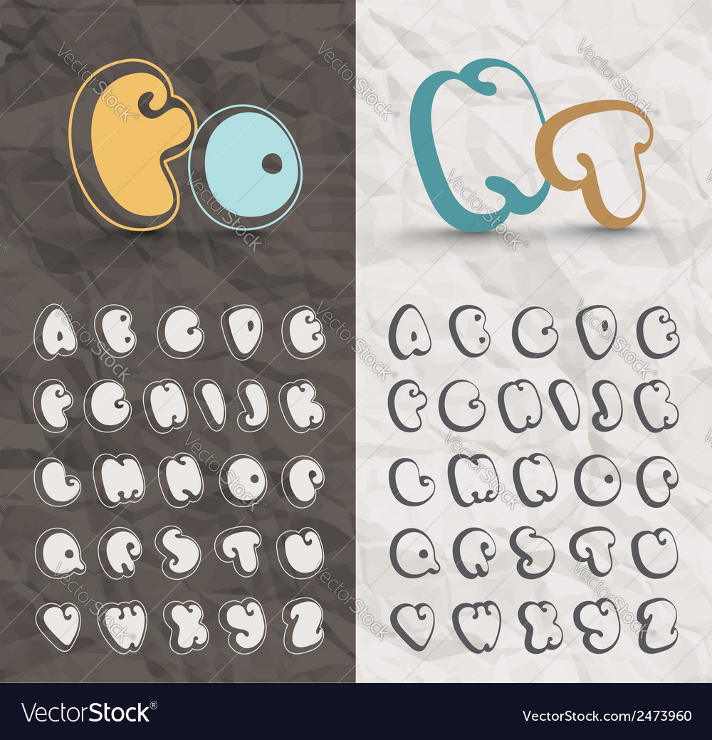 Comic font vector | Price: 1 Credit (USD $1)