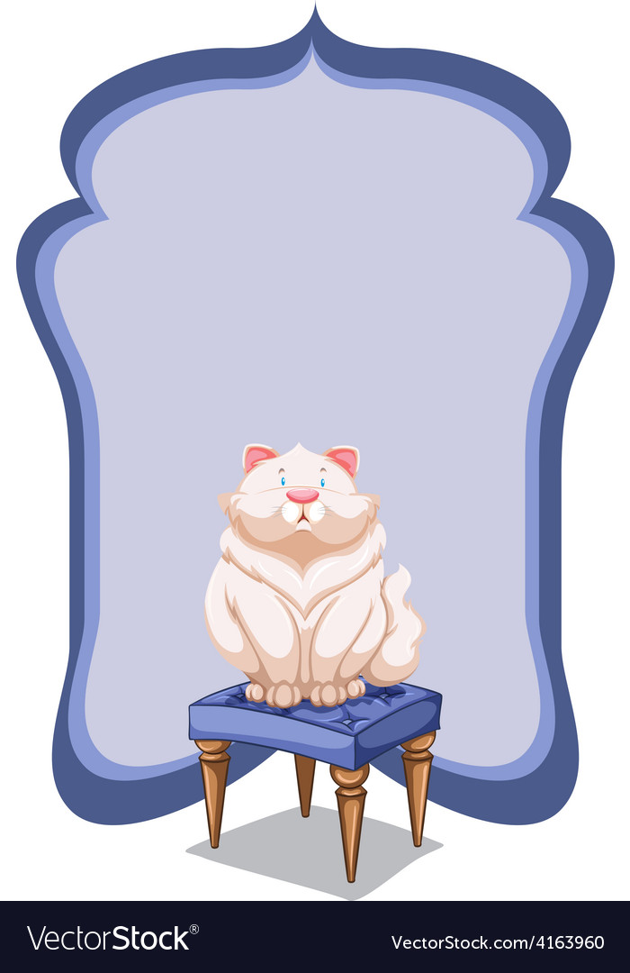 Empty template at the back of a cat vector | Price: 1 Credit (USD $1)