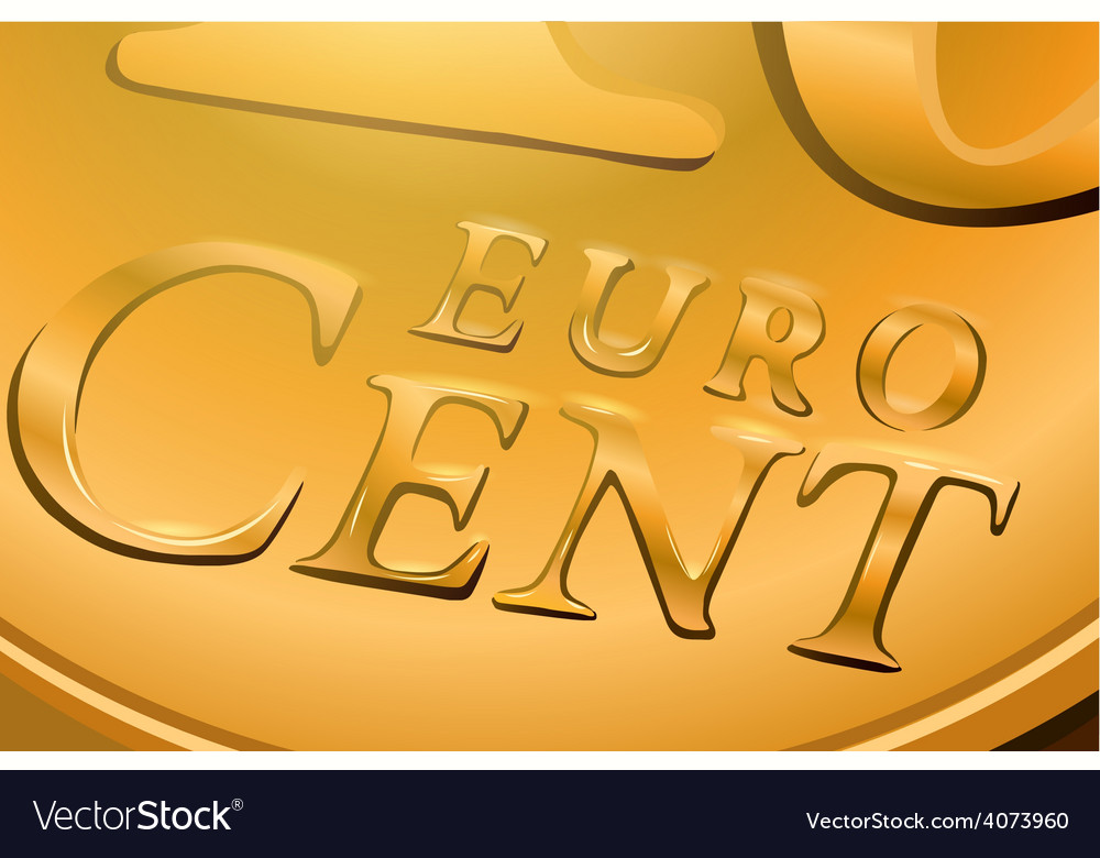 Euro cent coin vector | Price: 1 Credit (USD $1)