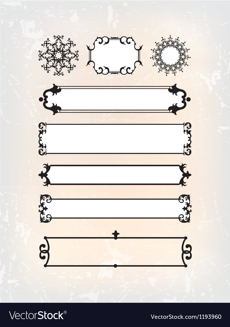 Set of abstract traditional pattern vector | Price: 1 Credit (USD $1)