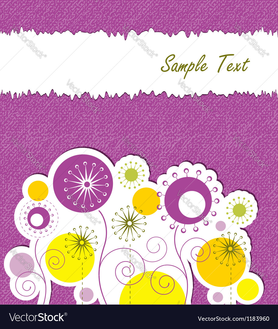 Spring floral background with text space vector | Price:  Credit (USD $)